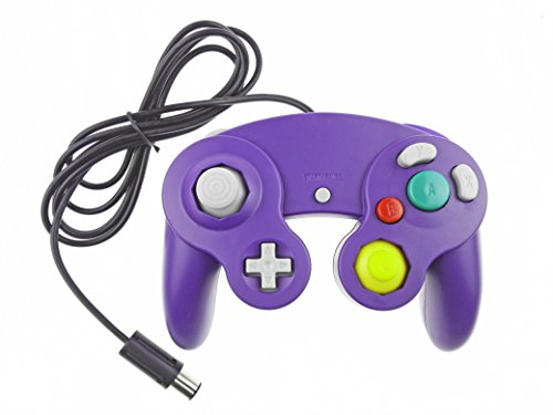 Bowink 1 Pack Classic NGC Wired Controller for Wii Gamecube (Purple)