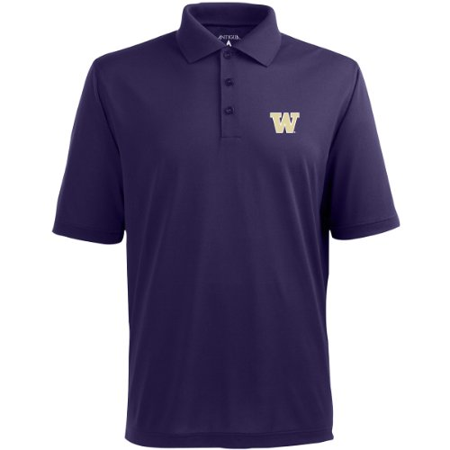 picture of Antigua Washington Classic Pique Polo Shirt (X-Large, Dark Purple)