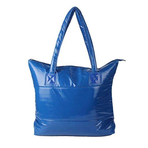 Space Girl Totes Down Handbag Bale Paymenow Bag Feather Blue Shoulder Sponge Bag Feather Cotton Women wIU4wXq