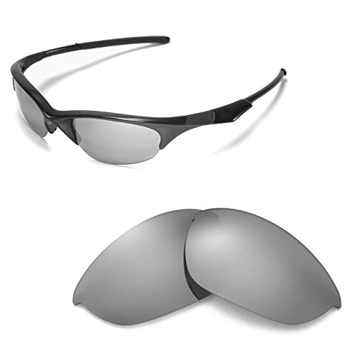 Walleva Replacement Lenses for Oakley Half Jacket Sunglasses - Multiple Options Available (Titanium Mirror Coated - Polarized) (Oakley Lenses Half Jacket)