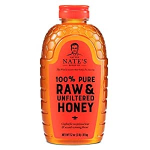 Nature Nate's 100% Pure, Raw & Unfiltered Honey, 32 oz. Squeeze Bottle; All-natural Sweetener, No Additives