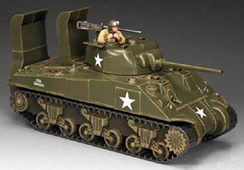 D-day Tank - D-Day Sherman Tank - WW2 - Normandy Invasion - US Army - King & Country KnC001