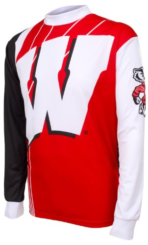NCAA Wisconsin Badgers Mountain Bike Cycling Jersey (Team, Medium) ()