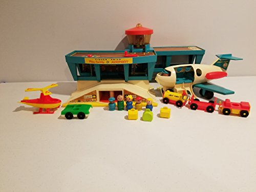 Vintage Fisher Price Little People Play Family 1972 Airport #996 with ()