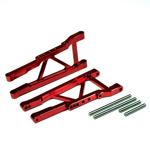 Rustler Carbon Fiber (Atomik RC Alloy Rear Lower Arm, Red fits the Traxxas 1/10 Slash 4X4 and Other Traxxas Models - Replaces Traxxas Part 3655X)