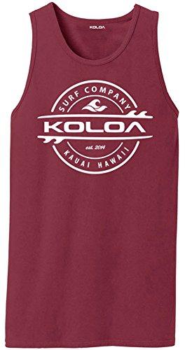 Koloa Surf(tm) Thruster Logo Pigment-Dyed Tank Tops-Merlot-L