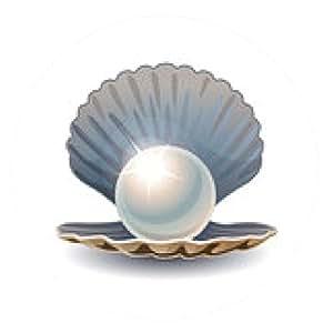 alfombrilla de ratón perla brillante en concha abierta - ronda - 20cm