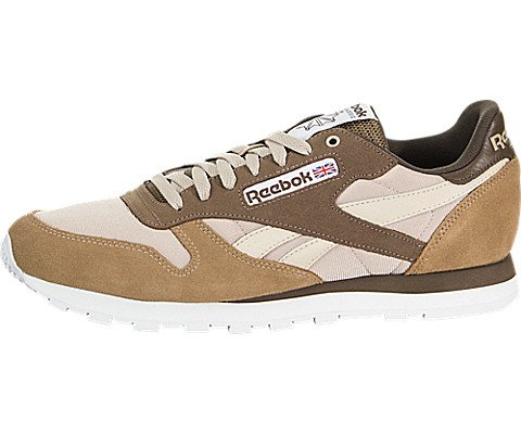 Reebok Men's Classic Leather Sneaker, Cappuccino/Toffee/hot
