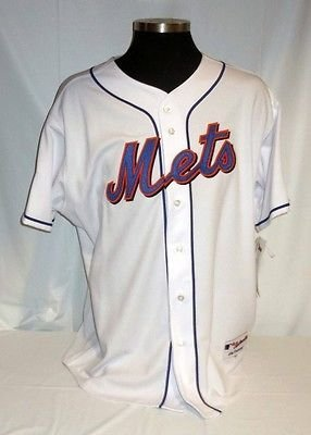 - New York Mets Authentic Majestic Home Jersey with 2009 Inaugural Season Patch