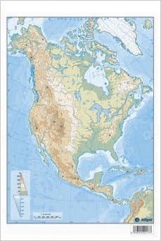 América del Norte, físico. Mapa mudo de ejercicios: Amazon