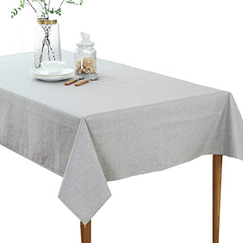 Amzali Cactus Pattern Tablecloth Cotton Linen Dust-Proof Table Cover for Kitchen Picnic Dinning Tabletop Home Decoration Square 55 x 55 Inch