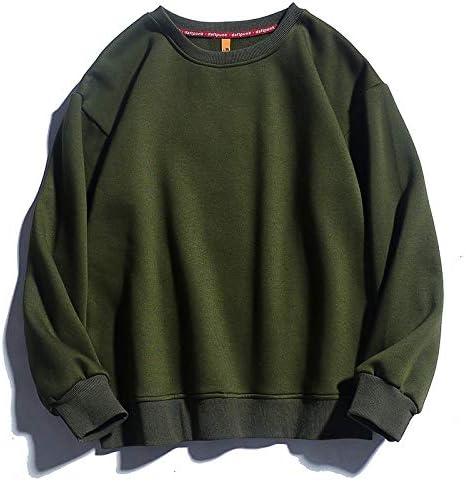 no brand Hommes Solides Sweat-Shirts Nouveau Printemps Automne Mode Homme Réchauffez Toison Hoodies Hommes Marque Hip Hop Sweats à Capuche Hauts (Color : White, Size : XL)