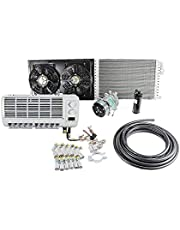 Universal Wall-Mounted A/C Air Conditioner 12V 24V System Climate for Heavy Duty Truck Van Tractor Excavator Engineering Vehicle (12V)