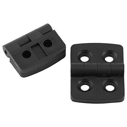 10 Pcs Nylon Plastic Butt Hinge for Wooden Box Furniture Electric Cabinet Black (40×30 )