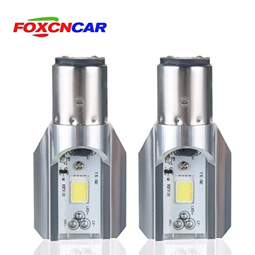 HITSAN INCORPORATION Foxcncar Ba20d Motorcycle LED Headlight Bulbs H6 COB Moto front Lamp Accessoires Scooter light 12v 1000LM For Honda Yamaha 6000K from HITSAN INCORPORATION