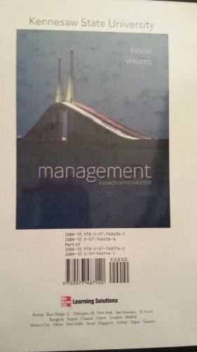 Management a Practical Introduction Custom Text for Kennesaw State University