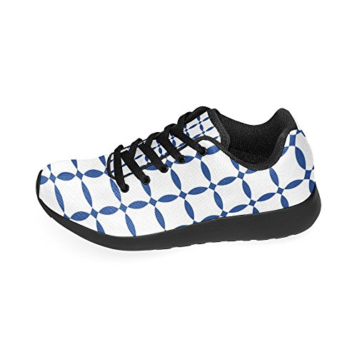Women's US Running Athletic Casual size Lightweight White shoes InterestPrint 6 pattern Sneakers 15 and Blue wqITxPRAB