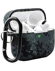 Baaletc bloemenmotief ontwerp AirPods Pro Case, Zachte Silicone Volledige Beschermende Schokbestendige Cover met Sleutelhanger Set Compatibel voor Apple AirPods Pro (Front LED Zichtbaar)