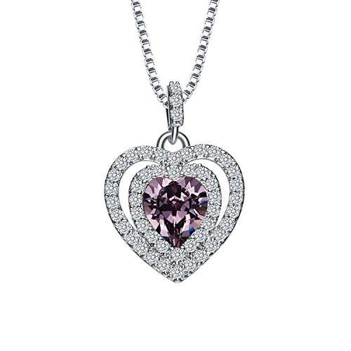 Birthstone Heart Necklace - 7