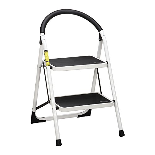 Ollieroo Ladder EN131 Steel Folding 2 Step Stool with Comfy Grip Handle Anti-slip Step Mon-marring Feet 330-pound Capacity White  sc 1 st  Amazon.com & Safety Step Stools: Amazon.com islam-shia.org