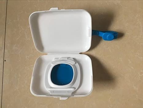 Dispensador de toallitas de bebé portátil; para toallitas húmedas, caja de pañuelos para niños azul azul: Amazon.es: Bebé