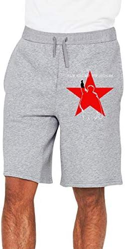 レイジ・アゲインスト・ザ・マシーン 赤い星 ハーフパンツ ショートパンツ フィットネス スポーツ ランニング 吸汗速乾 ズボン カジュアル メンズ