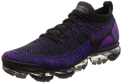 Nike Air Vapormax Flyknit 2 Mens Running Trainers 942842 Sneakers Shoes (UK 7.5 US 8.5 EU 42, Black Night Purple 013)