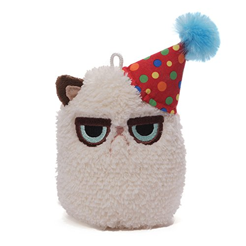 Gund Grumpy Cat Mini Plush (Birthday), 4