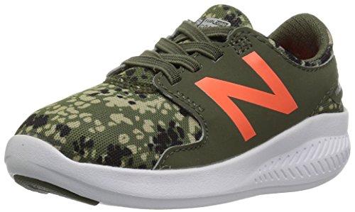New Balance Boys Coast V3 Hook And Loop Running Shoe  Military Green Dynamite  6 M Us Toddler