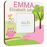 Personalized Baby Girl Picture Frame with Birth Announcement...
