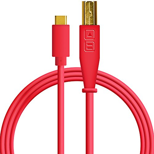 Red Midi Cable - Chroma Cables: Audio Optimized USB-C to USB-B Cable with 56K Resistor (Red)