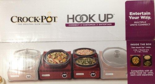 Crock-Pot Hook Up 2 Unit, 2-1Qt and 1-2Qt Red (Hookup Crock Pot compare prices)