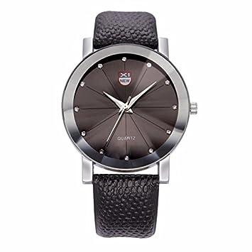 Relojes Hombre Deportivos 💝💞 Yesmile Relojes de Lujo para Hombre Relojes de Cuarzo de Acero Inoxidable Relojes Deportivos Militares Banda de Cuero dial ...