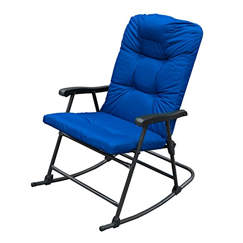 SunLife Rocking Folding Lounge Chair on Patio Porch Indoor Outdoor Portable W