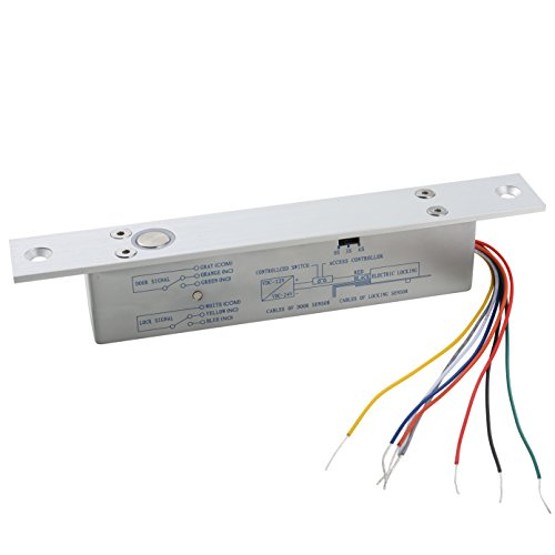 UHPPOTE Fail Safe DC12V Deadbolt Electric Drop Bolt Plug Narrow Door Lock Time Open -