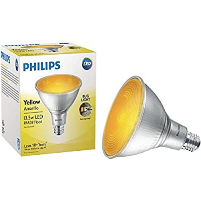 Philips Non-Dimmable 13.5W Yellow/Bug Light 40° PAR38 LED Bulb, Outdoor and Enclosed Fixture Rated