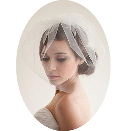 Birdcage Wedding Veils Short with Comb (Blusher Veils)