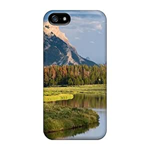 Protective PC Case With Fashion Design For SamSung Galaxy S5 Mini Phone Case Cover (square Top Mountain Green River Wyoming)