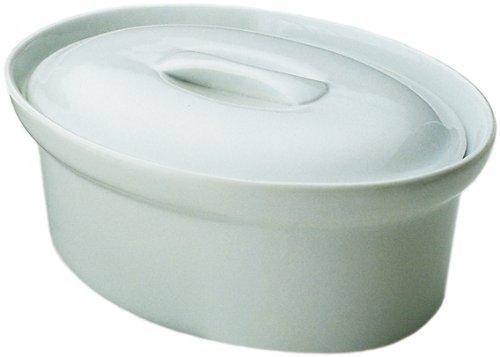 Honey-Can-Do 8034 Porcelain Oval Tureen, White, 2-Quarts Kitchen Supply