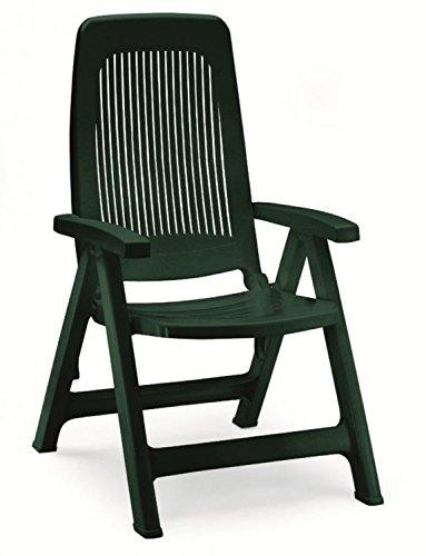 Dos sillones en resina verde bosque, sillones respaldo alto ...