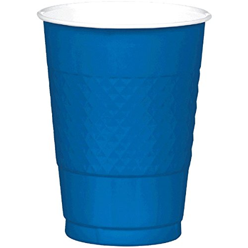 Amscan Reusable Cups Plastic 16 Ounces Pack 20 Childrens Party (200 Piece), Bright Royal Blue by Amscan