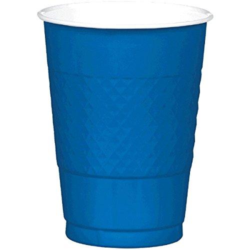 Amscan Reusable Cups Plastic 16 Ounces Pack 20 Childrens Party (200 Piece), Bright Royal Blue