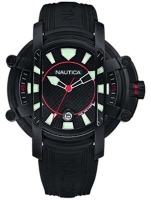 Nautica A36004X - Reloj de Caballero de Cuarzo, Correa de plástico Color Negro: Amazon.es: Relojes