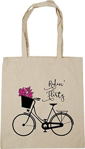 playa x de con Flirty» «Ridin' 38 una nbsp;cm de mensaje HippoWarehouse 42 con tela etc nbsp;litros la Bolsa Natural 10 bicicleta de dibujo para nbsp;cm compra awd08RRq