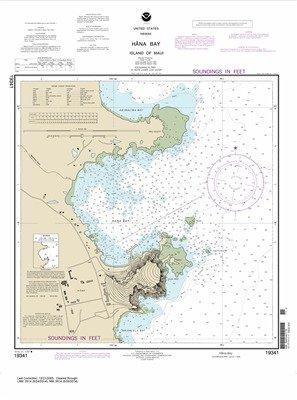 Synthetic Media NOAA Chart 19341: Häna Bay Island of Maui