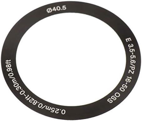 perfk ソニー16-50mmカメラレンズ用レンズデコレーションリングアクセサリーキットアダプターマウントフロントサークル