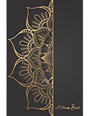 Address Book: Gold Vintage Greeting Cover | Cute Address & Phone Number Book Pocket | Contact Log Book | Email and Birthday Information | Name Organiser Alphabetical A - Z Journal for Women, Men, Seniors