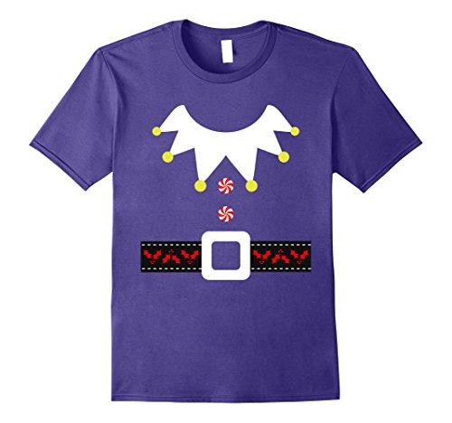 Christmas Elf Costume Ideas (Mens Funny Christmas Elf Costume T-Shirt Holiday Mens Womens Kids XL Purple)