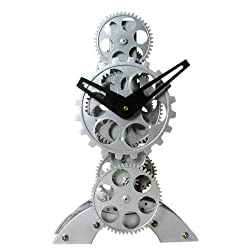 Maple's Moving Gear Table Clock, Upright Figure