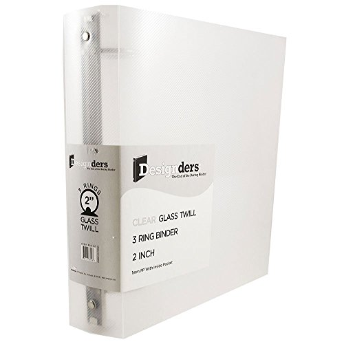"""JAM Paper Plastic 3 Ring Binder- 2"""" - Clear -Sold Individually"""